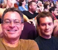 Ryan Goldstein and his dad at a Paul McCartney concert at the Wachovia Center in Philadelphia