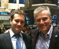 Ryan Goldstein and Duncan Niederauer, CEO of the New York Stock Exchange