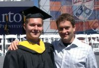 Ryan Goldstein at his brother's Wharton graduation
