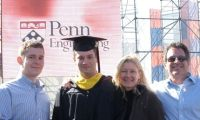 Ryan Goldstein with his family at the 2009 Penn Engineering graduation